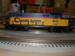 6-8463 Conventional Chessie B&O GP20 #8463.jpg