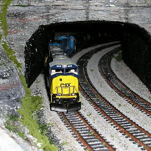 CSX 700 exits the Tunnel