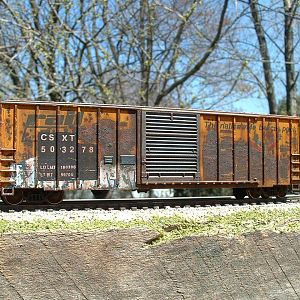 CSXT 503278 (EX-RBOX) rusty box car