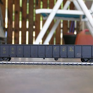 A custom weathered CSX/SBD gondola; My first to go on eBay