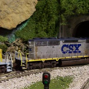 SD 40-2's @ Pine Cliff Tunnel