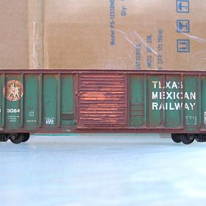 Weathered MDC/Roundhouse PS Texas Mexican Railway Boxcar