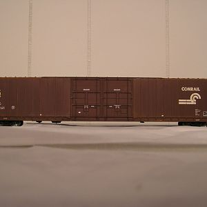 Progress Shot-CSX/CR/NYC 86\' Auto Parts Boxcar(Crappy Photo)