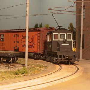 Guelph Loco with some freight.