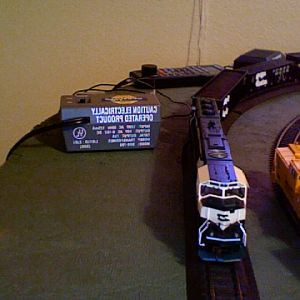 BN sd70mac #9580 on layout