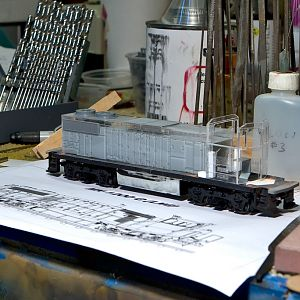 Scratchbuilding HO Scale MK-1200G (LNG) Switcher - UP1298