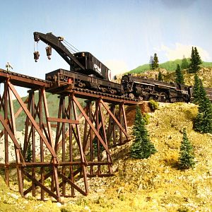Heavy-duty lifting on a trestle