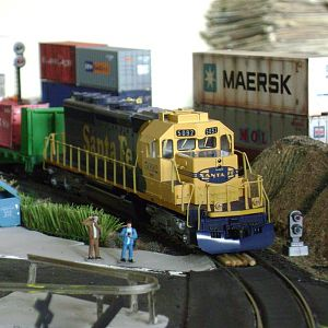 SD40-2  Santa Fe-Model Railroad Brazil