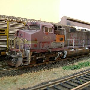 C44-9W Santa fe-Model Railroad Brazil HO