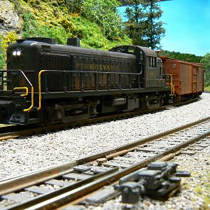 Alco RS3 No.8856 hauling freight.