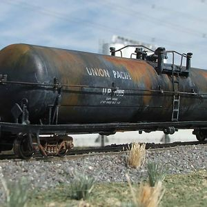 Union Pacific tank car weathering