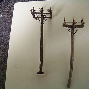 "Ho Scale 1950s Era  ""Gang Switch"" Poles"