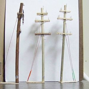 Ho Scale Hand Crafted Utility Poles