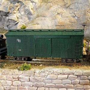 scratch built 30' Hon3 boxcar