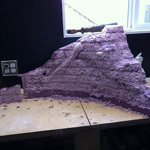Large mountain cut