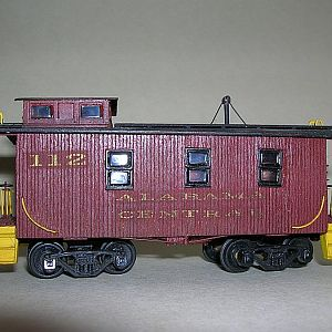 Alabama Central RR Caboose #112