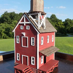 Weimers Grist Mill in HO-scale