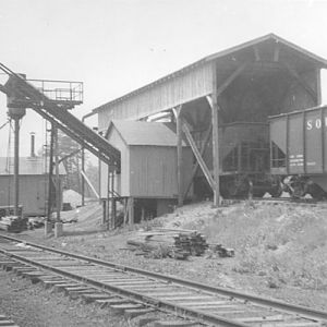 coal conveyor.  Also sand tower in background.