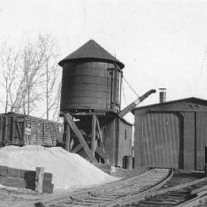Engine shed, water tank