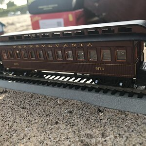 Pennsylvania Railroad 1880s Wooden Passenger Coach