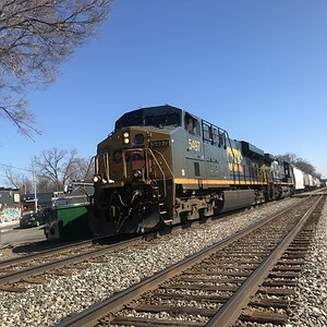 CSX Railroad Locomotive