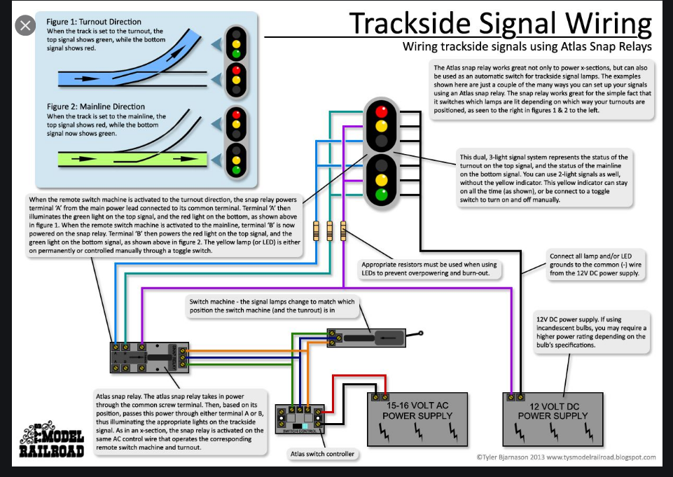 The use of Atlas Snap-Relay | ModelRailroadForums.com | Relay And Switch Machine Control Wiring Diagram For Trackside Lights |  | ModelRailroadForums.com