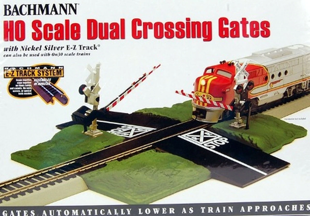 Bachmann HO Scale Dual Crossing Gates with Nickel Silver E-Z Track (Product).png