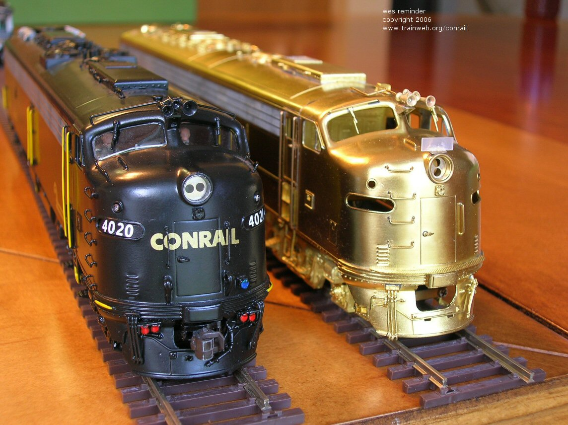 Conrail 4020 and 4022 E8A Overland Models