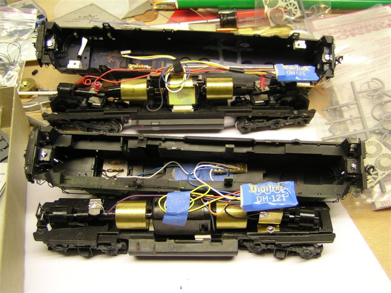 insides of Athearn locos