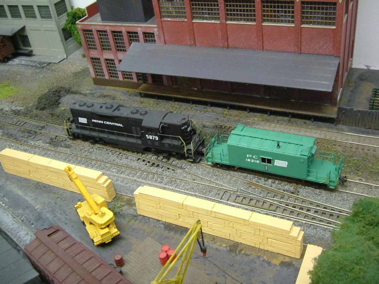 Penn Central GP-9 and transfer caboose