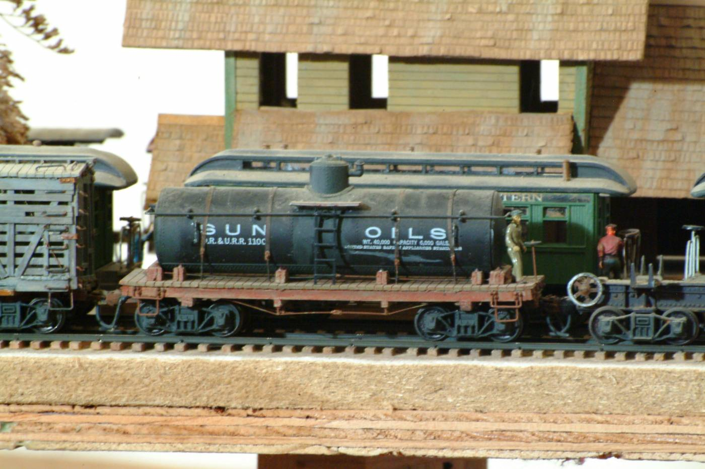Scratch built early tank car.